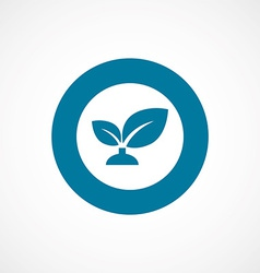 plant bold blue border circle icon vector image