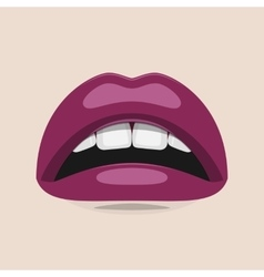 Purple lips beauty vector
