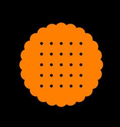 pyramid sign orange icon on black vector image