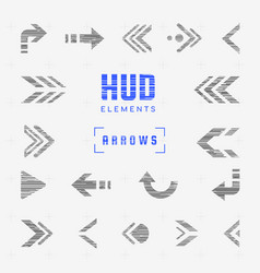Set of arrows pointers directions navigation vector