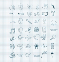 Set of icons sketch vector