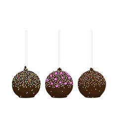Set of isolated cake pop vector