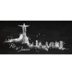 Silhouette chalk Rio de Janeiro vector image vector image