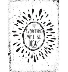 Simple vintage motivational poster doodles grunge vector image vector image