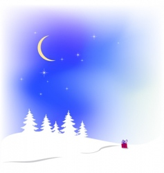 snow Christmas background vector image
