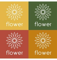 sunflower design template vector image