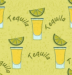 Tequila shot seamless pattern vector
