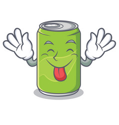 tongue out soft drink character cartoon vector image vector image