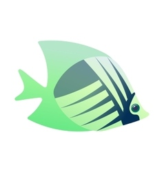Tropical angelfish cartoon icon vector image