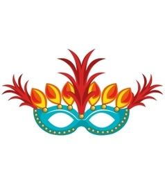 mask with feathers brazil culture vector image