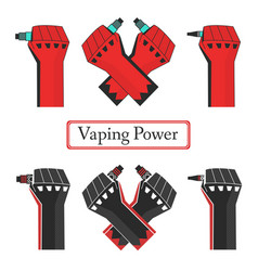 Vape power fists vector