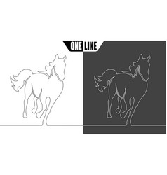 Horse icon on white and black vector