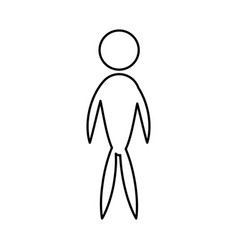man male people icon pictogram vector image