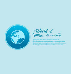 world ocean day banner style collection vector image