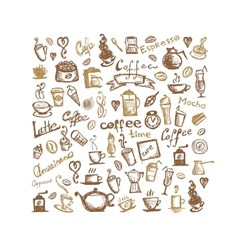 Coffee time background for your design vector