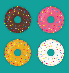 Donuts set icon modern flat vector