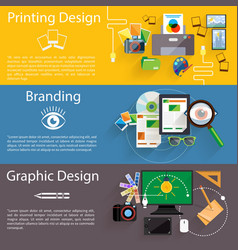 Branding graphic and printing design icon set vector