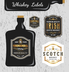 Whiskey brands label design vector