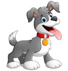 Cartoon dog on white background vector