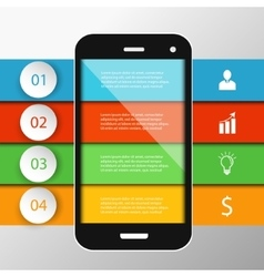 Infographics mobile phone data vector