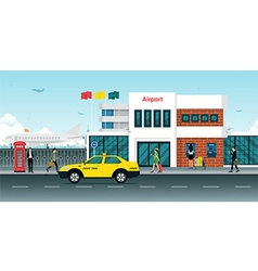 Airport taxi vector