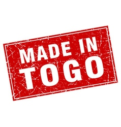 Togo red square grunge made in stamp vector