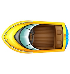 A topview of a boat vector image vector image