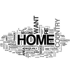 at home in your overseas home text word cloud vector image vector image