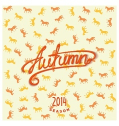 Calligraphy design lettering autumn vector
