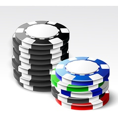 Casino chips stacks vector image
