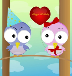 Celebration of birds vector