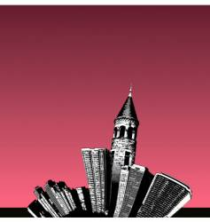 city tower vector image vector image