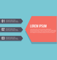 Collection infographic step design business vector
