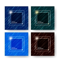 Cover background set vector image