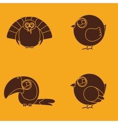 Cute birds vector