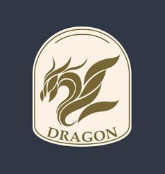 Dragon logo icon design vector