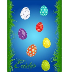 Easter floral background with eggs vector image vector image