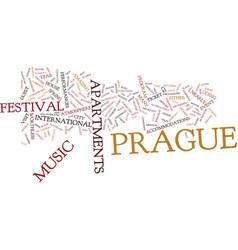 Enjoy music in prague text background word cloud vector