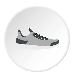 gray sneaker icon circle vector image