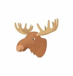 Head of elk icon cartoon style vector