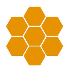 honeycomb icon on white background flat style vector image vector image