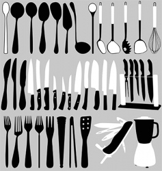 household objects set vector image