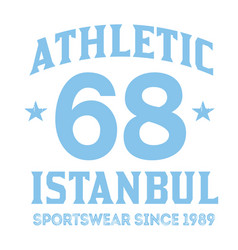 istanbul sport t-shirt design vector image