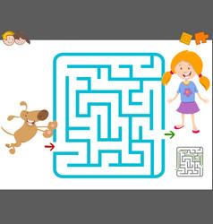 Maze laisure activity game vector