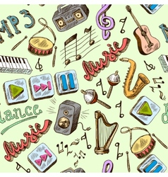 music seamless vector image
