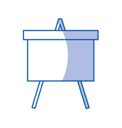 Paperboard flipchart isolated icon vector