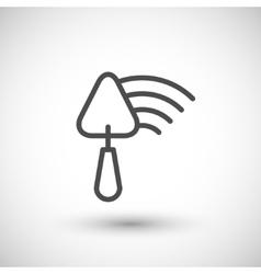 Plastering line icon vector