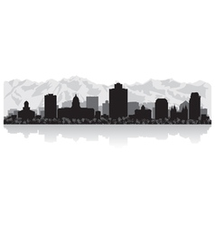 Salt Lake city USA skyline silhouette vector image