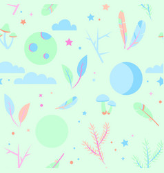 seamless pajama pattern pastel colors vector image vector image