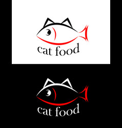 set of sing or symbol of cat food isolated vector image